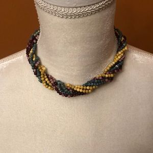 Multicolored beaded chocker necklace